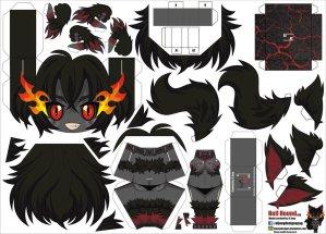 Papercraft de Anime - Hell Hound. Manualidades a Raudales.
