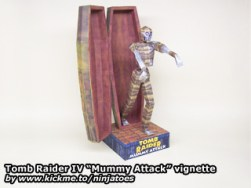Papercraft de Tom Raider - Momia atacando. Manualidades a Raudales.
