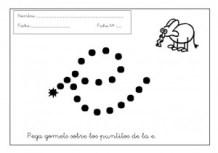 Grafomotricidad letra e.