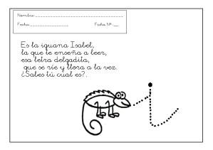 Grafomotricidad letra i - I.
