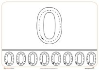 Grafomotricidad del número 0.