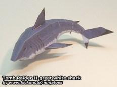 Papercraft recortable de un Tiburón. Manualidades a Raudales.