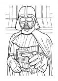 Colorear fichas de Star Wars.