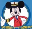 Papercraft recortable de Mickey Capitán de barco. Manualidades a Raudales.
