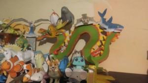 Papercraft de un Dragón realizado por uno de nuestros amigos. Manualidades a Raudales.