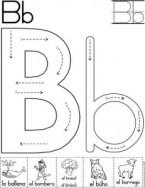 Ficha de Grafomotricidad de la letra b. Manualidades a Raudales.