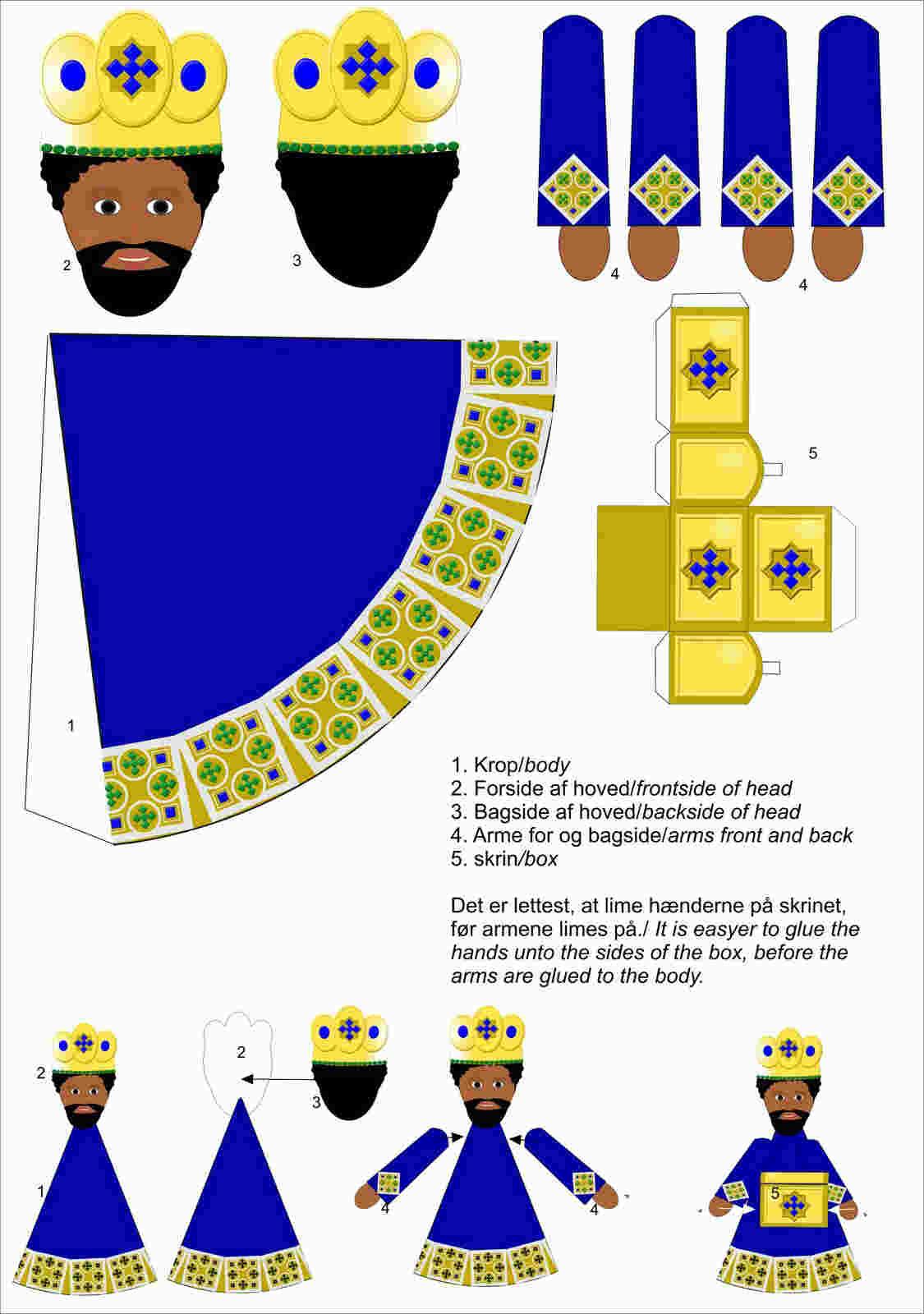 Papercraft De Los 3 Reyes Magos De Oriente