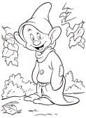 Dibujos para colorear de Blancanieves y los siete enanitos. Manualidades a Raudales.
