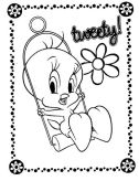 Ficha imprimible para colorear dibujos de los Looney Tunes. Manualidades a Raudales.