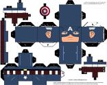 Cubeecraft de Capitán América. Manualidades a Raudales.