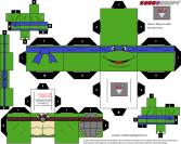 Cubeercraft de las Tortugas Ninjas. Manualidades a Raudales.