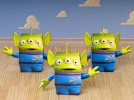Papercraft de Squeeze Alien de Toy Story. Manualidades a Raudales.