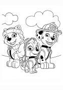 Fichas para colorear de la Patrulla Canina. Manualidades a Raudales.