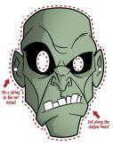 Máscara de Halloween de un monstruo. Manualidades a Raudales.