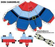 Cubeecraft de Sr. Cangrejo personaje de Bob Esponja.