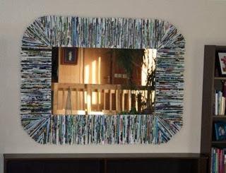 Como Hacer Marco Para Espejo Con Revistas Usadas Manualidadesgratises - Hacer-espejos