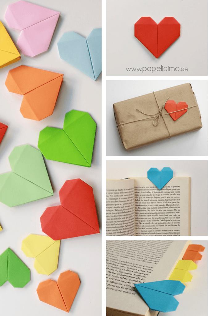 Corazón origami - ManualidadesGratis.es