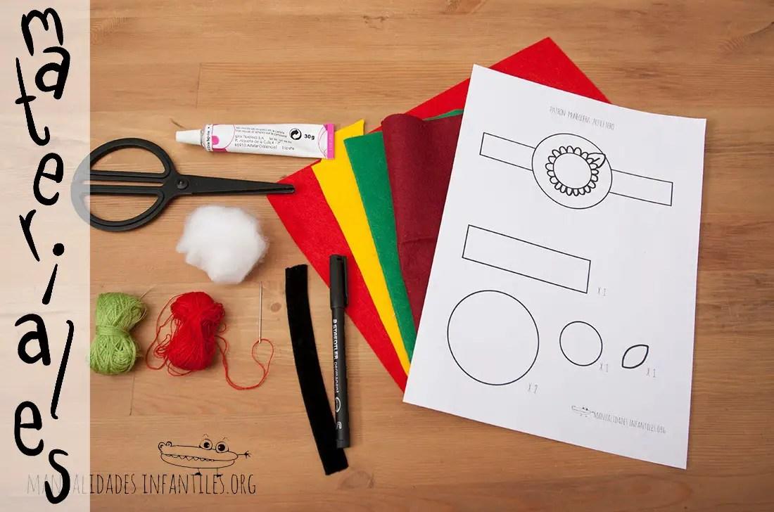 Materiales para hacer un alfiletero de muñeca