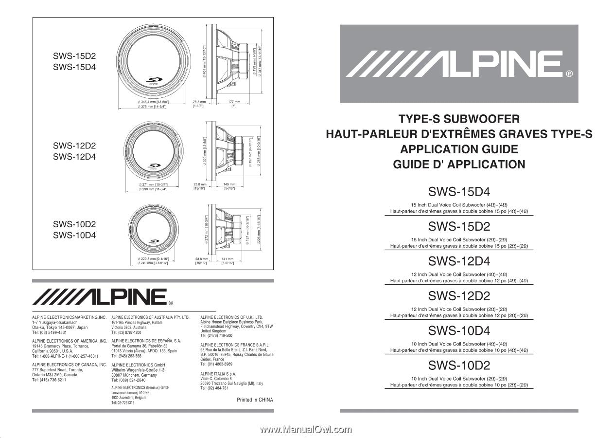 Alpine Sws 10d2