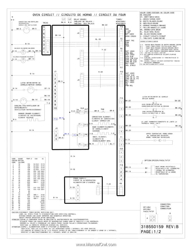 electrolux ew30es6cgs  wiring diagram english