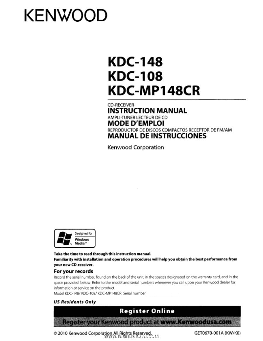 Kenwood Kdc 108