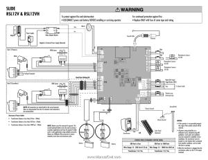 LiftMaster RSL12V | RSL12V Wiring Diagram Manual