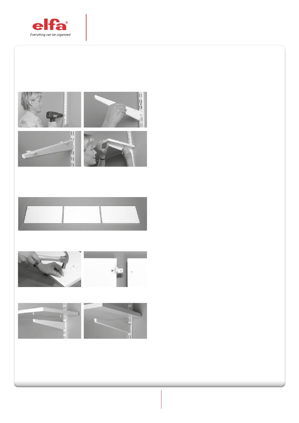 Elfa Melamine Shelves Used Together With Hang Standards User