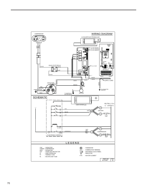Wiring diagram schematic | Friedrich KUHL R410A User Manual | Page 71  87
