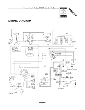 Wiring diagram | Generac 7000exl User Manual | Page 17  24