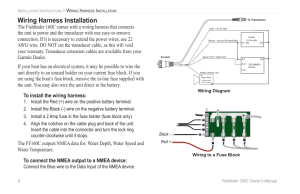Wiring harness installation | Garmin 160C User Manual