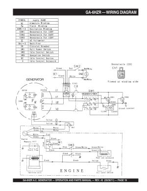 Ga6hzr — wiring diagram | Multiquip GA6HZR User Manual
