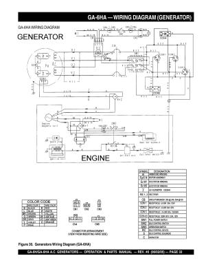 Ga6ha — wiring diagram (generator) | Multiquip MQ Multiquip Portable Generators ga6h User