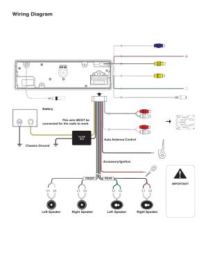 Wiring diagram | Jensen VM8113 User Manual | Page 4  12