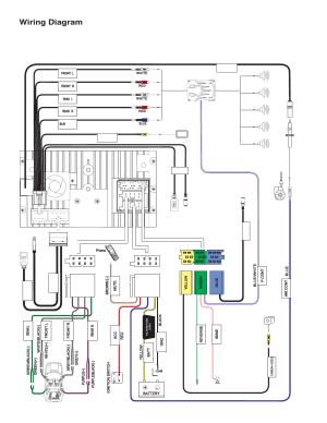Wiring diagram | Jensen VM9224 User Manual | Page 4  12