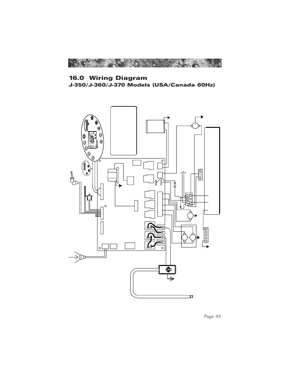 0 Wiring Diagram 60hz J 350 J 360 J 370 Models 0 Wiring