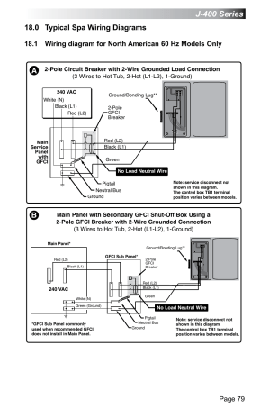 0 typical spa wiring diagrams, J400 series, Page 79