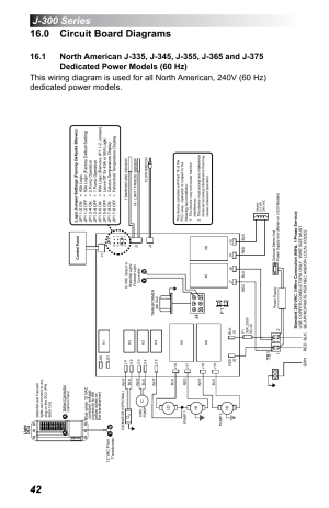 0 circuit board diagrams, Dedicated power models (60 hz) | Jacuzzi J  355 User Manual | Page 46