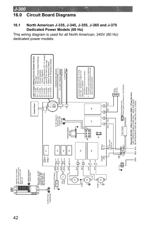 0 circuit board diagrams, Dedicated power models (60 hz) | Jacuzzi J  315 User Manual | Page 46