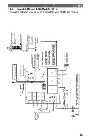 4 export j315 and j325 models (50 hz) | Jacuzzi J  315 User Manual | Page 49  64