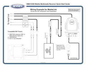 Wiring example for medialink, Ipods and sat equipment sold separately) | Jensen VM9312HD User