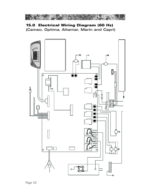 0 electrical wiring diagram (60 hz), Page 42 | Sundance