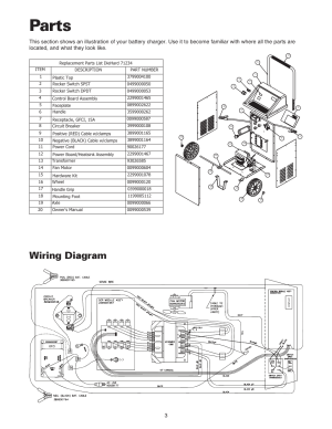 Parts, Wiring diagram | Sears 20071234 User Manual | Page 4  15
