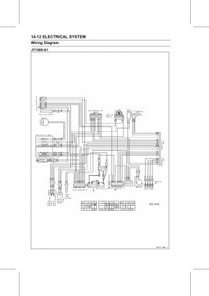 Jt1500a1, Wiring diagram | Kawasaki STX15F User Manual