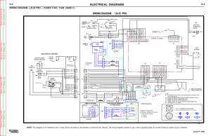 Electrical diagrams, Wiring diagram ln25 pro, Ln25™ pro