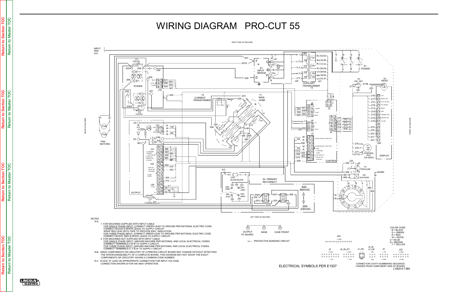 Lincoln Electrical Wiring Diagrams