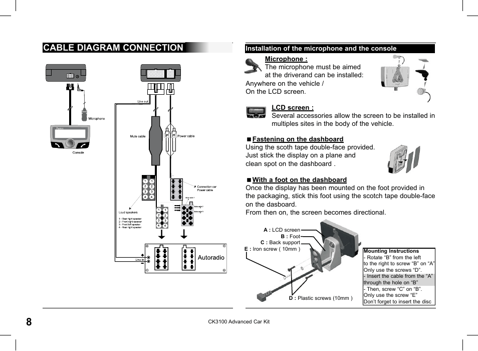 parrot ck3100 page8?resize=665%2C488 parrot ck3100 wiring diagram parrot wiring diagrams instructions parrot ck3100 installation wiring diagram at panicattacktreatment.co