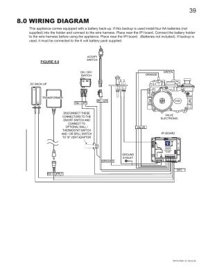 0 wiring diagram   Napoleon Fireplaces GDS60N User Manual