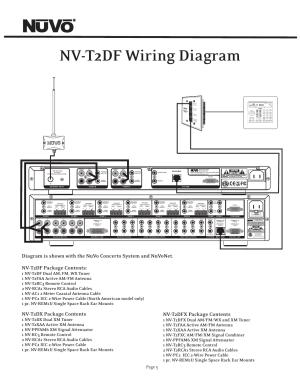 Nvt2df wiring diagram, Nvt2dx package contents, Nvt2dfx