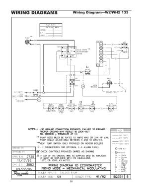 Wiring diagrams, Wiring diagram—wh1 01810261 | Raypak 1334001 User Manual | Page 38  52