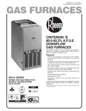 Rheem 07EAUER User Manual | 8 pages | Also for: 07NAUER, 05EAUER, 05NAUER